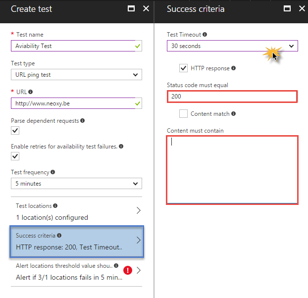 Monitor the Availability of any Web Site with Azure