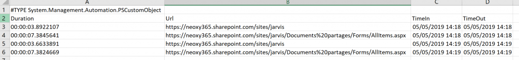 Script to check the performance of your SharePoint Online Requests